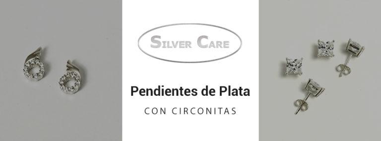 pendientes de plata con circonitas